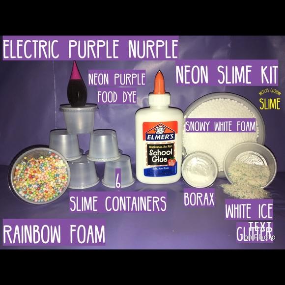 Slime Kit Elmers glue purple dye